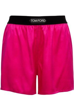 Tom Ford Minishorts Aus Seidensatin Mit Logo