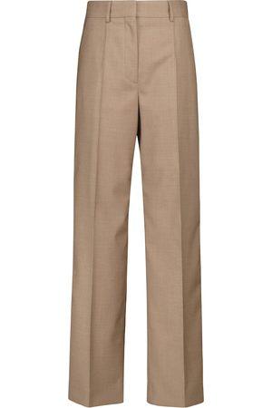 Burberry Hose mit weitem Bein aus Schurwolle