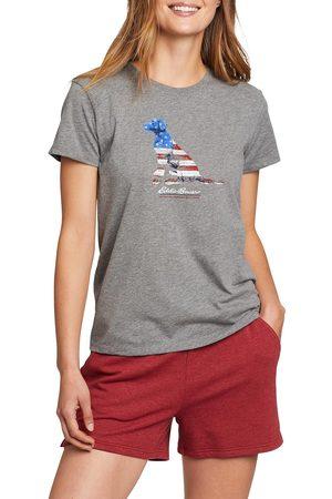 Eddie Bauer Graphic T-Shirt - Hund Damen Gr. XS