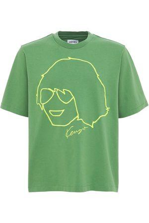 KENZO Bedrucktes T-shirt Aus Baumwolljersey