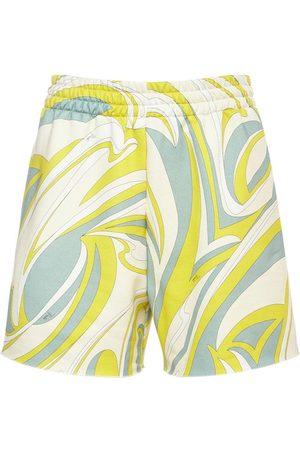 Emilio Pucci Bedruckte Mini-shorts Aus Bio-baumwolljersey