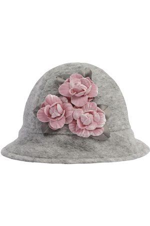 MONNALISA Wollmischhut Mit Blumenbesatz