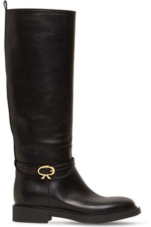 "Gianvito Rossi Damen Stiefel - 20mm Hohe Lederstiefel ""cavalier"""