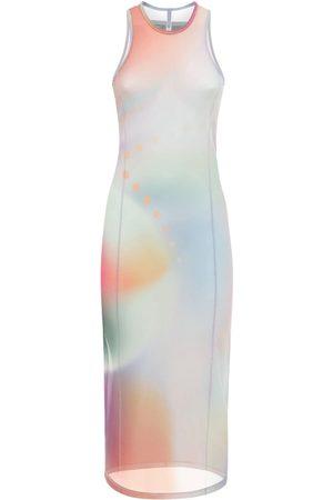 McQ Langes Kleid Aus Mesh Mit Druck