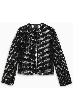 Givenchy Black squared blazer with all-over logo