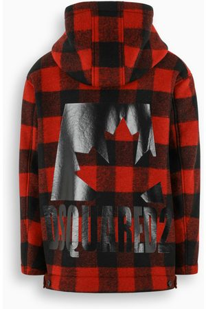 Dsquared2 Black and red parka with Check motif