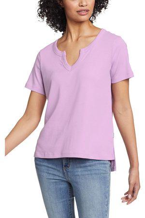 Eddie Bauer Damen T-Shirts - Favorite T-Shirt mit Y-Ausschnitt Damen Gr. XS