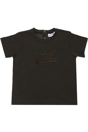 Emporio Armani T-shirt Aus Baumwolljersey Mit Logodruck