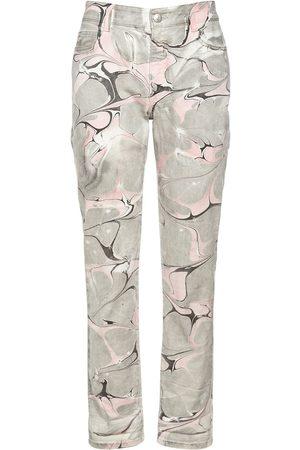 Stella McCartney Damen Cropped - Jeans Aus Baumwolldenim Im Marble Wash