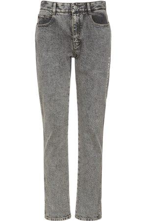 STELLA MCCARTNEY Jeans Aus Baumwolldenim Mit Aufgesticktem Logo
