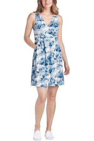 Eddie Bauer Damen Bedruckte Kleider - Aster Crossover Kleid - Bedruckt Damen Gr. XS