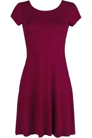 Black Premium by EMP Damen Kleider - Rotes Kleid mit Rückenausschnitt und dekorativer Schnürung Kleid