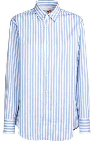 Maison Margiela Damen Blusen - Gestreiftes Hemd Aus Baumwollpopeline