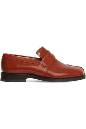 "Maison Margiela 20mm Hohe Loafers Aus Poliertem Leder ""tabi"""