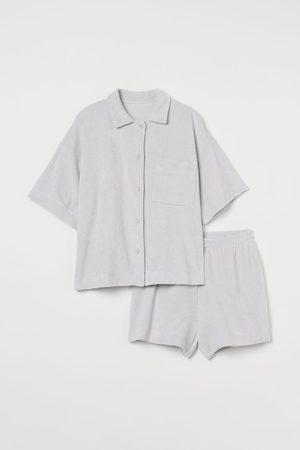 H&M Damen Schlafanzüge - Schlafanzug aus Frottee