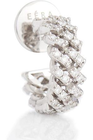 Eera Einzelner Ohrring Mini aus 18kt Weißgold mit Diamanten