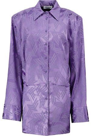 The Attico Hemdblusenkleid aus Jacquard