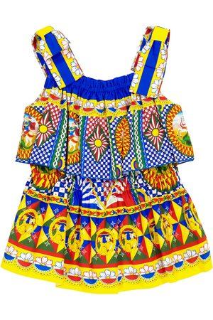 Dolce & Gabbana Mädchen Bedruckte Kleider - Bedrucktes Kleid aus Baumwollpopeline