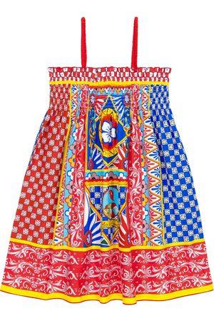 Dolce & Gabbana Bedrucktes Kleid aus Popeline