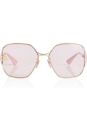 Gucci Oversize-Sonnenbrille aus Metall