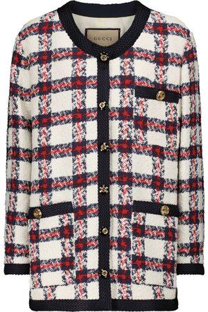 Gucci Karierte Jacke aus Tweed