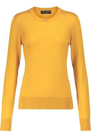 Dolce & Gabbana Damen Strickpullover - Verzierter Pullover aus Seide