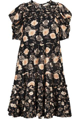 ULLA JOHNSON Damen Freizeitkleider - Minikleid Cassian aus einem Baumwollgemisch