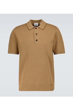Burberry Poloshirt Selwin aus einem Seidengemisch
