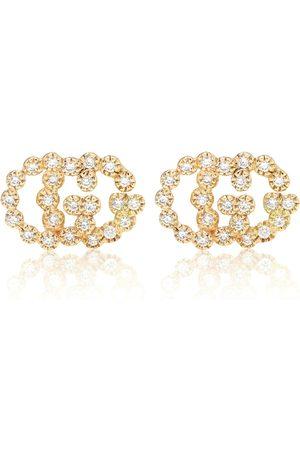 Gucci Damen Ohrringe - Ohrringe GG Running aus 18kt Gelbgold mit Diamanten