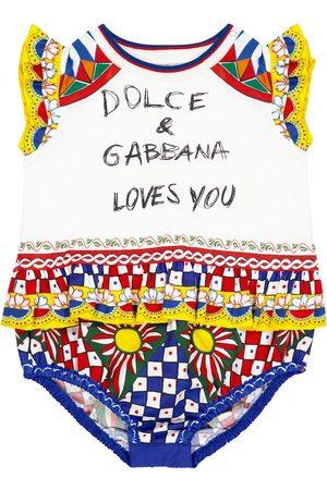Dolce & Gabbana Baby Strampler aus Baumwolle
