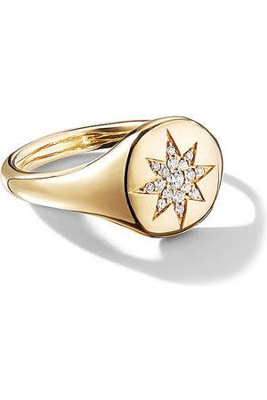 David Yurman Damen Ringe - 18kt 'Cable Collectibles' Gelbgoldring mit Diamanten - 88ADI