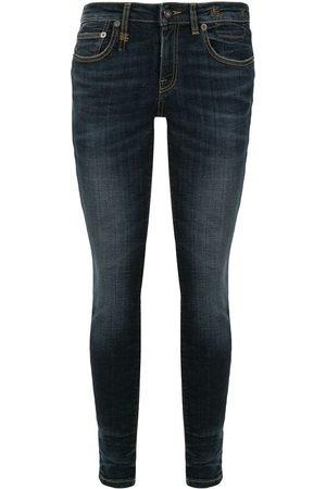R13 Tief sitzende Skinny-Jeans