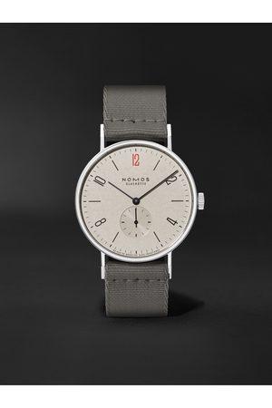 Nomos Glashütte Herren Uhren - Tangente 38 Limited Edition Hand-Wound 37.5mm Stainless Steel and Canvas Watch, Ref. No. 165.S50