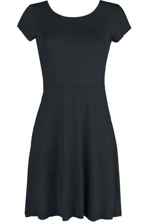 Black Premium by EMP Schwarzes Kleid mit Rückenausschnitt und dekorativer Schnürung Kleid