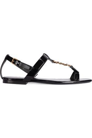 Saint Laurent Damen Sandalen - 10mm Cassandra Patent Leather Sandals