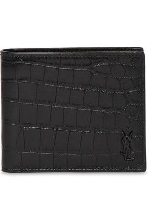 SAINT LAURENT Brieftasche Aus Geprägtem Leder Mit Ysl-logo