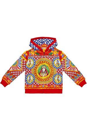 Dolce & Gabbana Bedruckte Kapuzenjacke aus Baumwolle