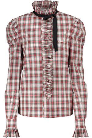 Serafini Karierte Bluse aus Baumwolle