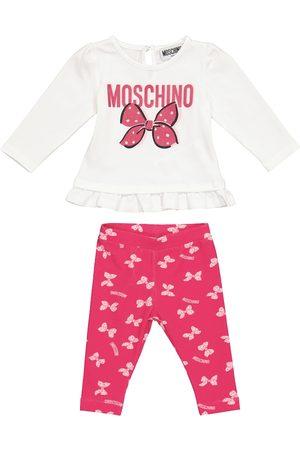 Moschino Baby Set aus bedrucktem T-Shirt und Leggings