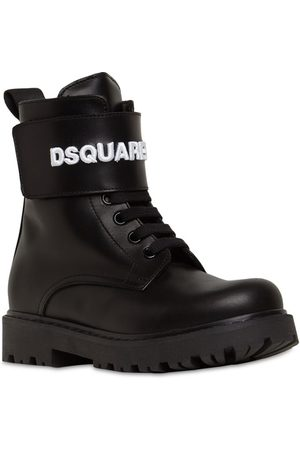 Dsquared2 Hohe Kampfstiefel Aus Leder Mit Logo