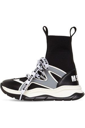Msgm Hohe Sockensneakers Aus Ledermischung