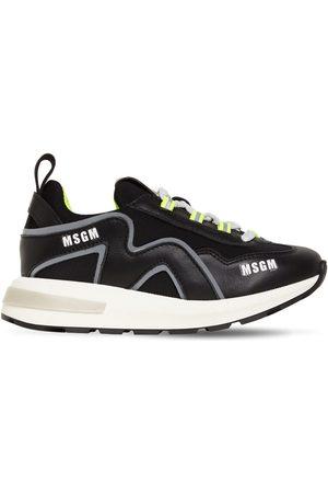 Msgm Sneakers Aus Leder Und Neopren