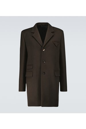 Bottega Veneta Einreihiger Mantel aus Wolle