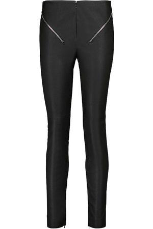 Givenchy High-Rise-Hose aus Leder