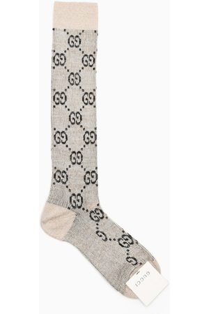Gucci Ivory and black socks with GG motif