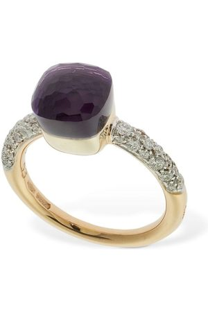 "Pomellato 18kt Goldring Mit Amethyst & Diamant ""nudo Petit"""