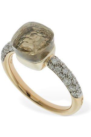 "Pomellato Damen Ringe - 18 Kt Goldring Mit Topas Und Diamant ""nudo"""