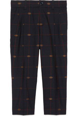 Gucci Kinderhose aus Wolle mit GG Motiv