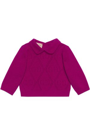 Gucci Babypullover aus Wolle mit GG Muster
