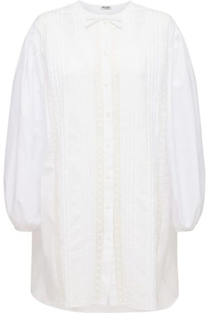 Miu Miu Langes Hemdkleid Aus Baumwollpopeline